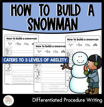 Procedure Writing Template : Differentiated : How to make a snowman