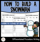 How to build a snowman : Differentiated procedure writing activity with video