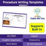 Procedure Writing Templates and Graphic Organizers Volume 2