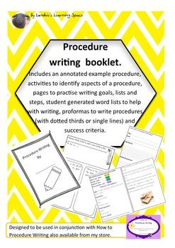 Procedure Writing Work Booklet. Revised