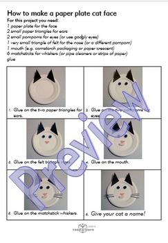 Procedure - make a paper plate cat face