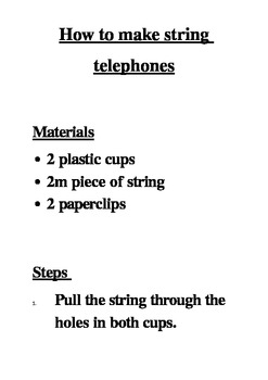 String Telephone Worksheets & Teaching Resources | TpT