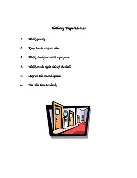 Procedures Booklet for Classroom Expectations (How We Do Things in Room ___)