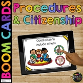 Procedures, Citizenship, and Rules Back to School BOOM CARDS™ Distance Learning