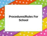 Procedures For School