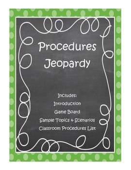 Classroom Management: Procedures Jeopardy