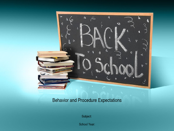 Procedures and Expectations: Classroom Management