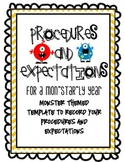 Procedures and Expectations Notebook:  Monster Themed