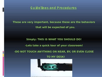 Procedures and Rules