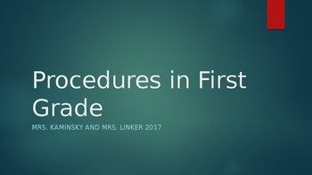 Procedures for the first grade