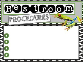 Procedures in School Colors