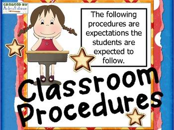 Procedures in the Classroom