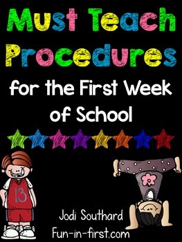 Procedures to Teach on the First Day of School