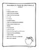 Procedures to Teach the 1st Week
