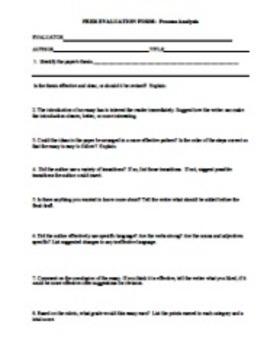 Process Analysis Essay by The Literary Ninja | Teachers Pay Teachers