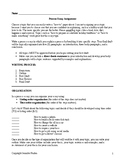 Process Essay Assignment Bundle