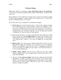 Process (How-to) Essay