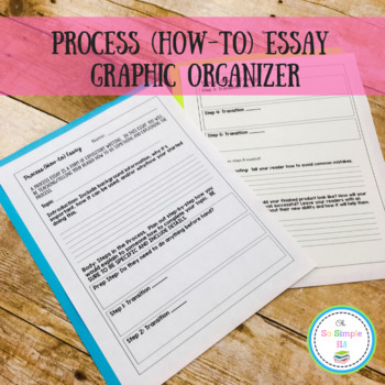 Process (How-to) Essay Graphic Organizer