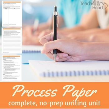 Process Paper / How-To Writing Unit for middle school (editable, scaffolded)