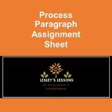 Process Paragraph Assignment Sheet