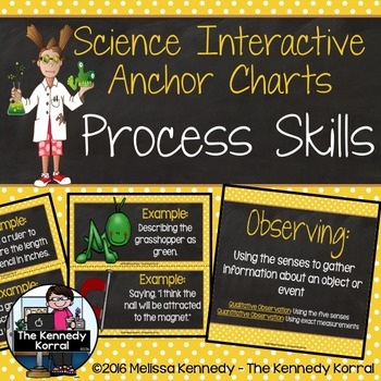Process Skills Anchor Charts {Interactive Bulletin Board Center}