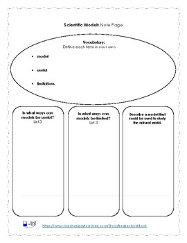 Process Skills: Using Scientific Models Pack