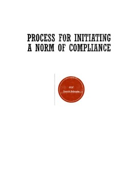 Process for Initiating a Norm of Compliance