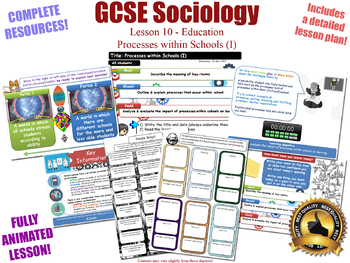Processes Within Schools (I) - Sociology of Education (GCSE Sociology L10/20)