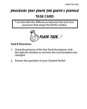Processes that Shape Earth's Surface:  Science Tasks with Otis & Flask