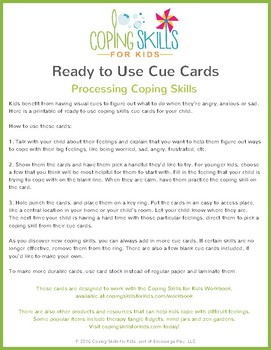 Processing Digital Cue Cards - Ready to Use