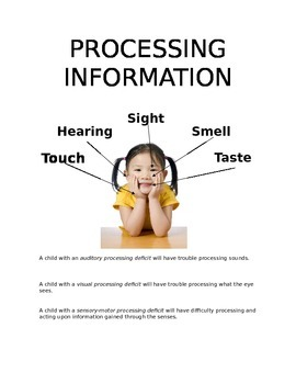 Processing Information Poster