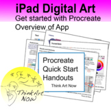 Procreate Quick Start Handouts - Think Art Now - For iPad