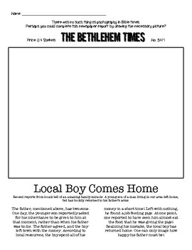 Prodigal Son Newspaper Article