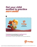 Prodigy Monthly Membership Gifting Certificate Holiday 2020