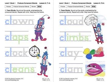 "Produce Consonant Blend ""Cl"": Lesson 6, Book 1 (Newitt Grade 1 Prereading)"