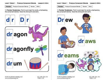 "Produce Consonant Blend ""Dr"": Lesson 8, Book 1 (Newitt Grade 1 Prereading)"