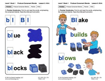"Produce Consonant Blends ""Bl"" and ""Br"": Lesson 5, Book 1 (Newitt Grade 1)"