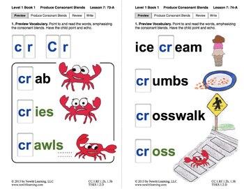 "Produce Consonant Blend ""Cr"": Lesson 7, Book 1 (Newitt Grade 1 Prereading)"