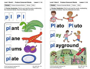 "Produce Consonant Blends ""Pl"" and ""Pr"": Lesson 1, Book 2 ("