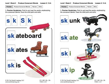 produce consonant blends sk and sl lesson 2 book 2 newitt grade 1. Black Bedroom Furniture Sets. Home Design Ideas