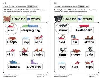 "Produce Consonant Blends ""Sk"" and ""Sl"": Lesson 2, Book 2 (Newitt Grade 1)"