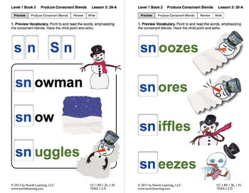 "Produce Consonant Blends ""Sm"" and ""Sn"": Lesson 3, Book 2 (Newitt Grade 1)"