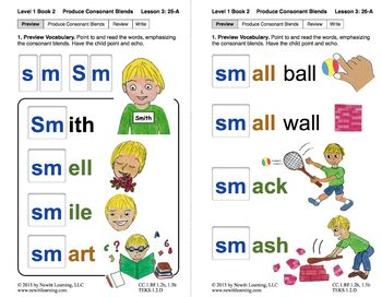 "Produce Consonant Blends ""Sm"" and ""Sn"": Lesson 3, Book 2 ("