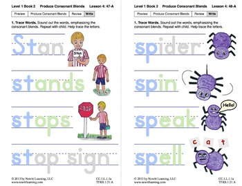 "Produce Consonant Blends ""Sp"" and ""St"": Lesson 4, Book 2 (Newitt Grade 1)"