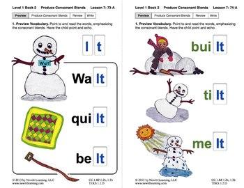 "Produce Consonant Blends ""lt"" and ""mp"": Lesson 7, Book 2 (Newitt Grade 1)"