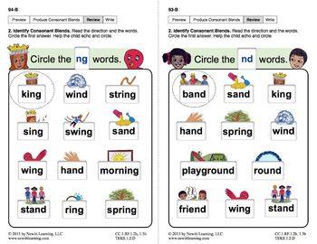 "Produce Consonant Blends ""nd"" and ""ng"": Lesson 8, Book 2 (Newitt Grade 1)"