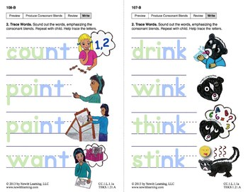 "Produce Consonant Blends ""nk"" and ""nt"": Lesson 9, Book 2 (Newitt Grade 1)"