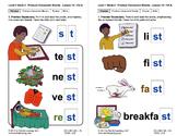 "Produce Consonant Blends ""sk"" and ""st"": Lesson 10, Book 2 (Newitt Grade 1)"
