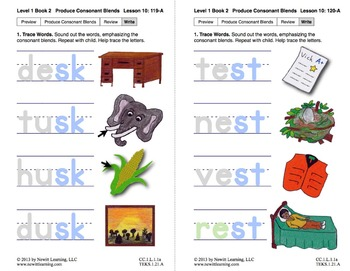 "Produce Consonant Blends ""sk"" and ""st"": Lesson 10, Book 2 (Newitt Grade 1)"