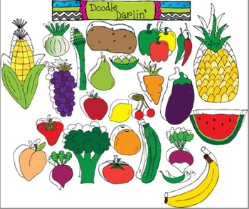 Produce Palooza COMBO Clipart Set